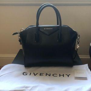 Givenchy Antigona Small Leather Satchel Bag